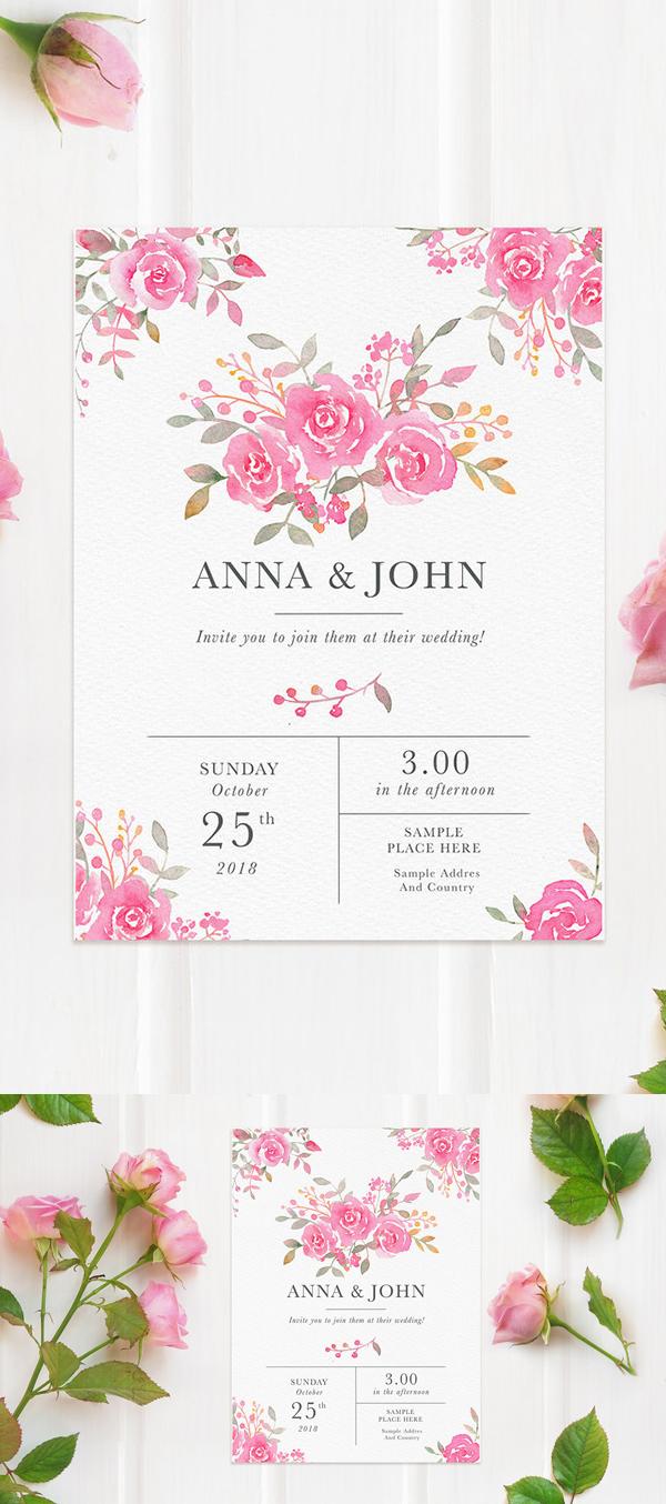 Plantilla PSD gratis de maqueta con rosas rosadas Plantilla PSD