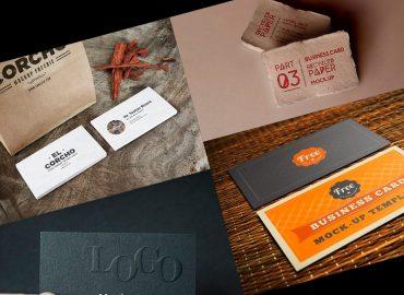 mockups de tarjetas de presentación