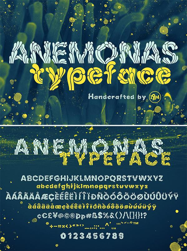 Tipografía de Anemonas