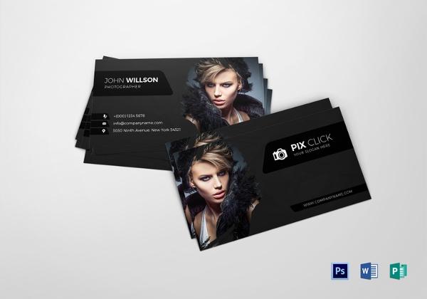 tarjetas de presentación 1 tarjeta de fotógrafo