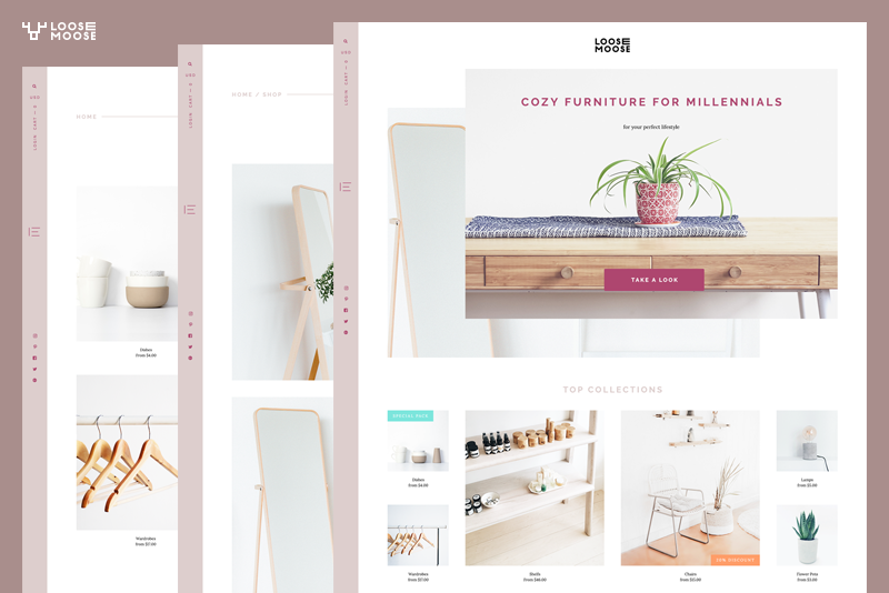 tendencias de diseño gráfico, Muebles de diseño asimétrico.