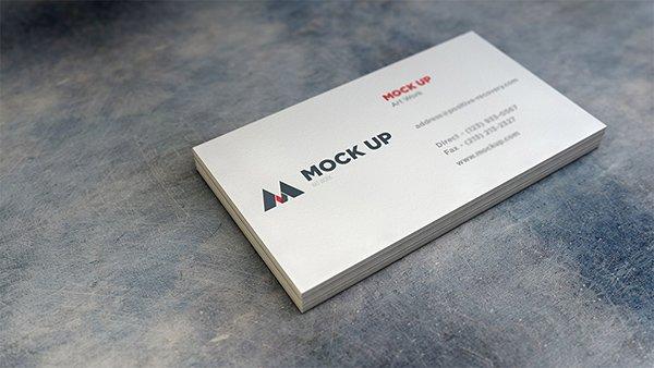 Tarjeta de visita realista MockUp # 2