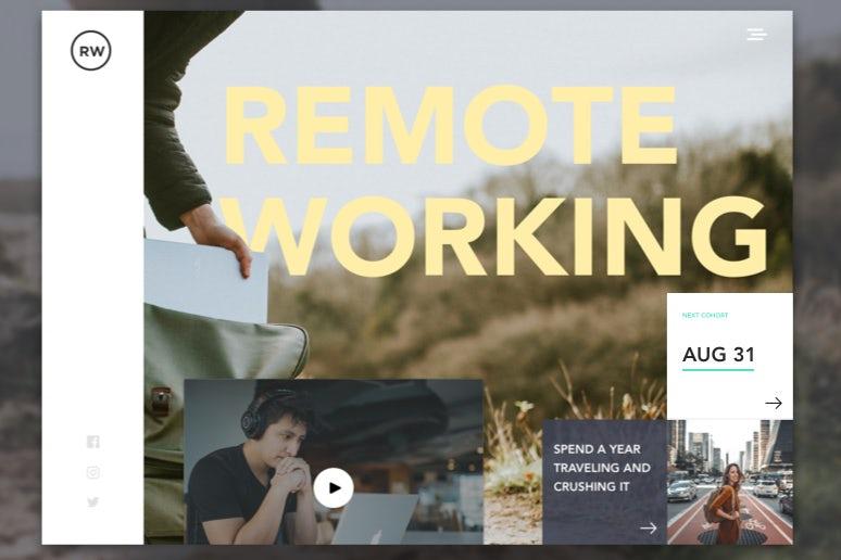 tendencias de diseño gráfico, Diseño de trabajo remoto