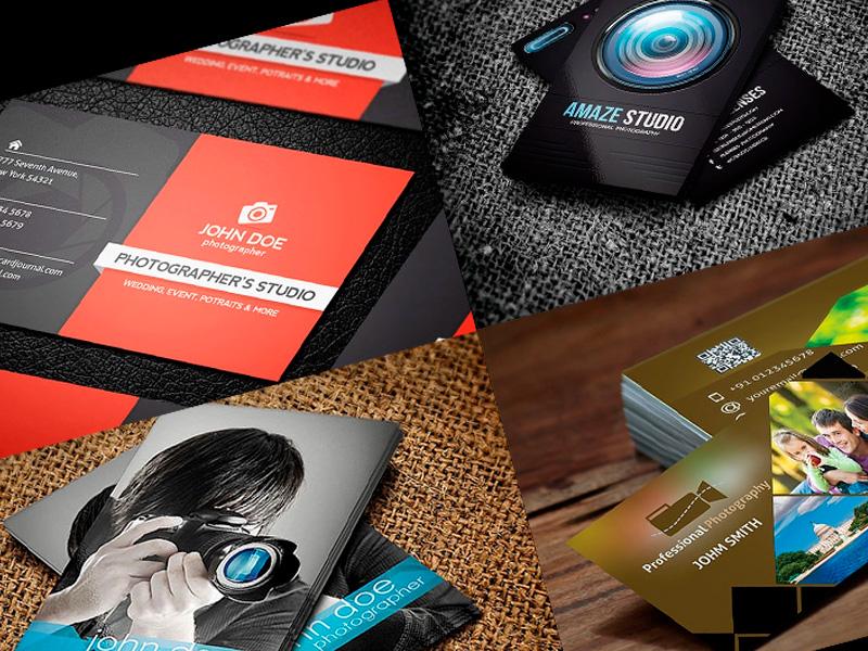 tarjetas de presentación para fotógrafos