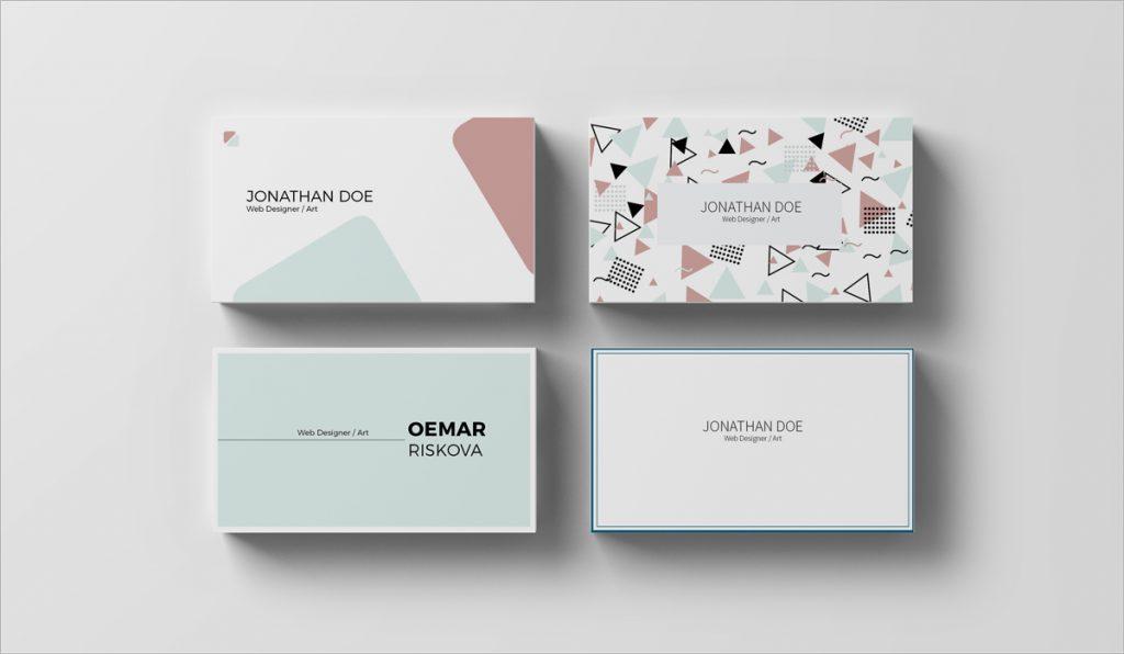 diseño moderno y limpio de tarjetas de visita