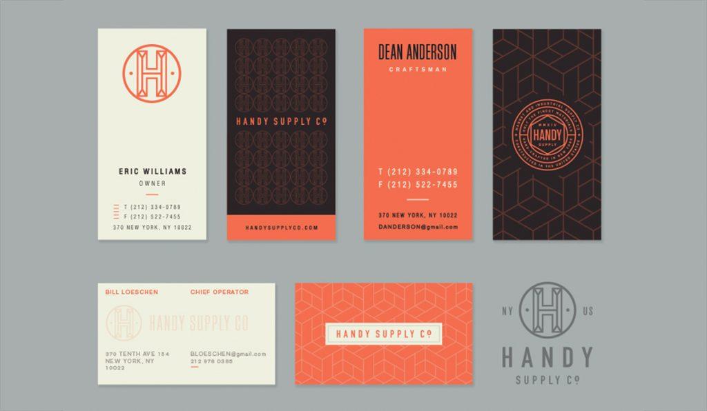 diseño sofisticado y enérgico de tarjetas de visita