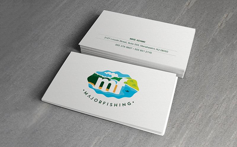 diseño de tarjeta de visita minimalista y colorido