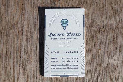 tarjetas con relieve o repujado
