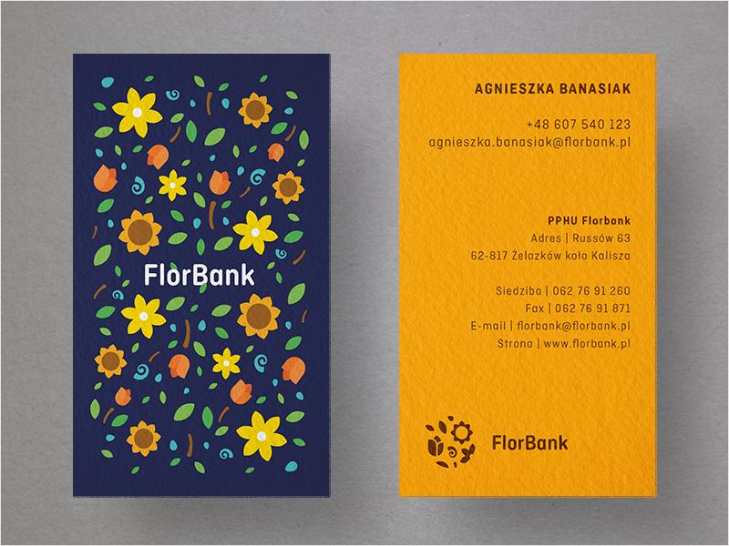diseño floral colorido de la tarjeta de visita