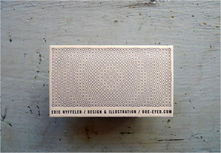diseño creativo de tarjetas de visita tipográficas