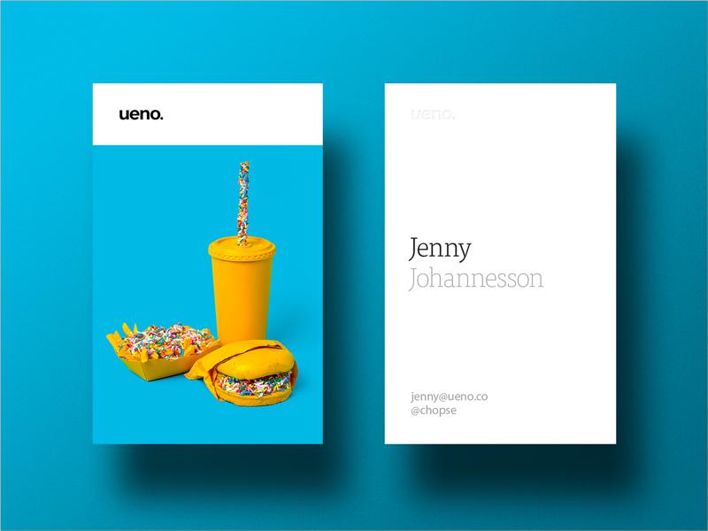 diseño moderno y simple de la tarjeta de visita en negrita