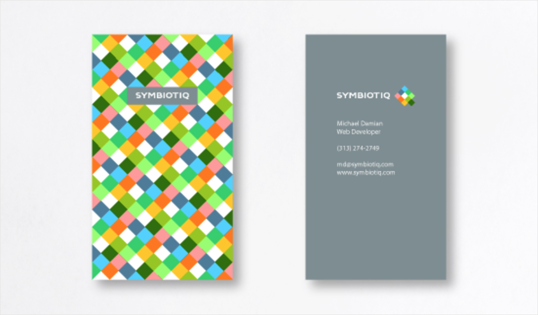 diseño colorido de la tarjeta de visita del modelo