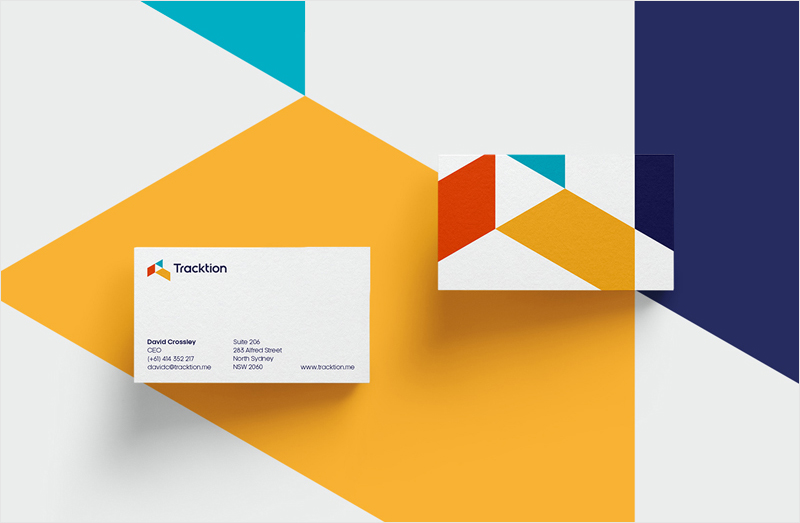 inspiración de diseño de tarjeta de visita mínima geométrica