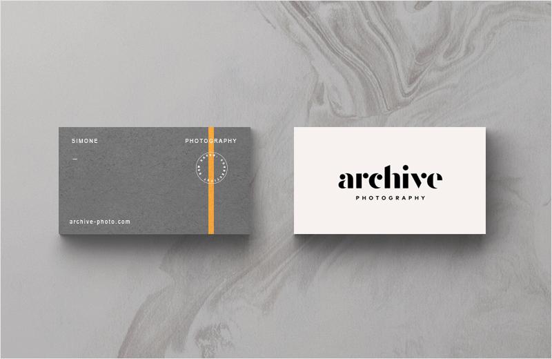 diseño de tarjeta de visita de color naranja acento
