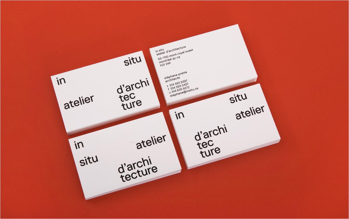 diseño minimalista abstracto de la tarjeta de visita