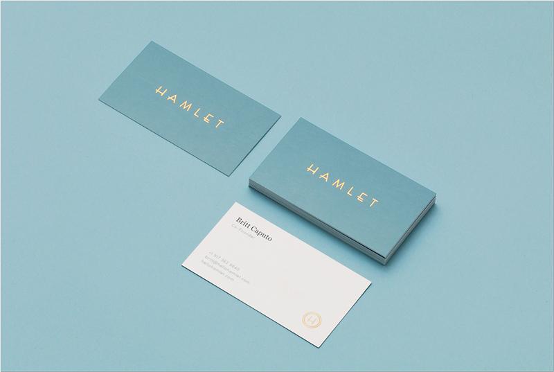 diseño elegante y elegante de la tarjeta de visita