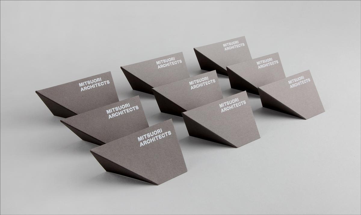 diseño de tarjeta de visita plegable para arquitectos