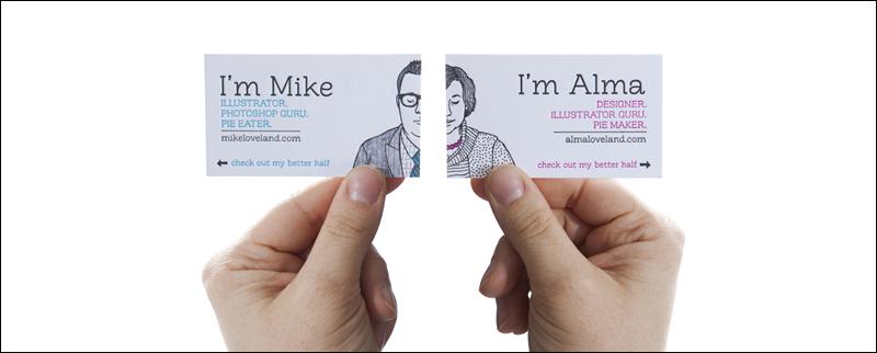 él y su diseño de tarjeta de presentación