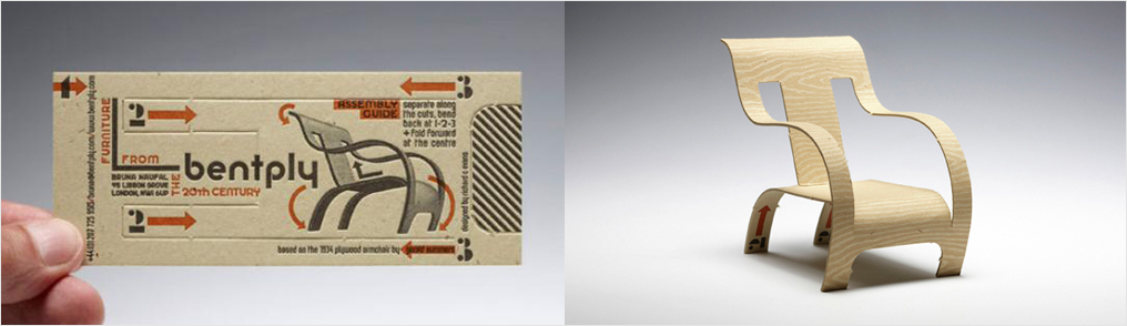 Diseño de tarjeta de visita de tipografía 3d