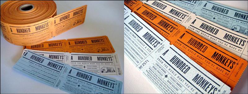 diseño de la tarjeta de visita del boleto