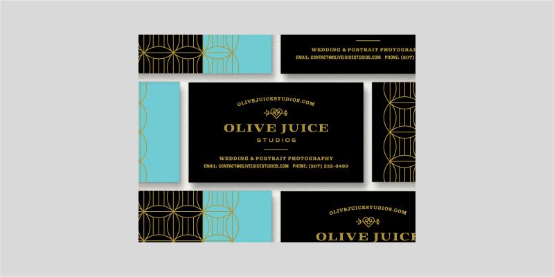 diseño de tarjeta de presentación en negro y dorado