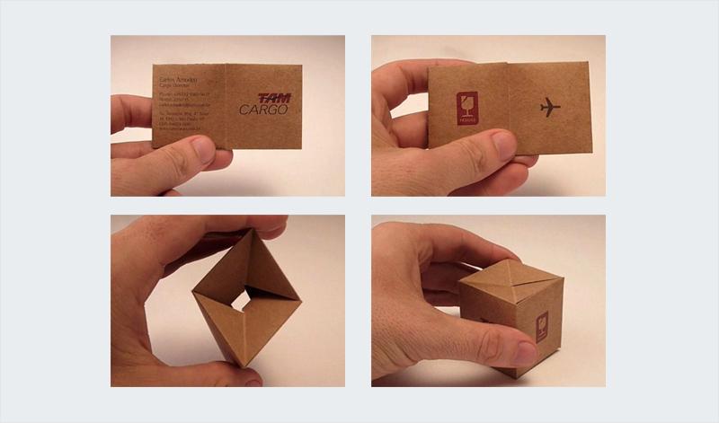 inteligente diseño de tarjeta de visita plegable 3d