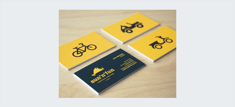 diseño de tarjeta de visita de icono limpio divertido