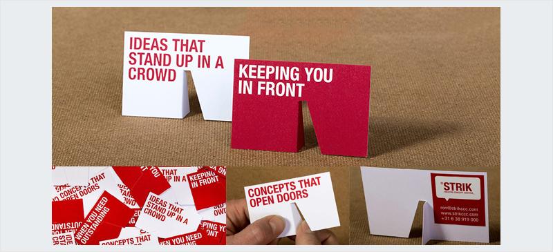 troquelado 3d stand up tarjeta de visita