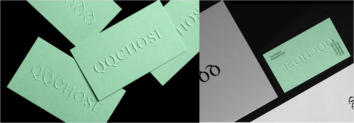 elegante diseño de tarjeta de visita verde menta