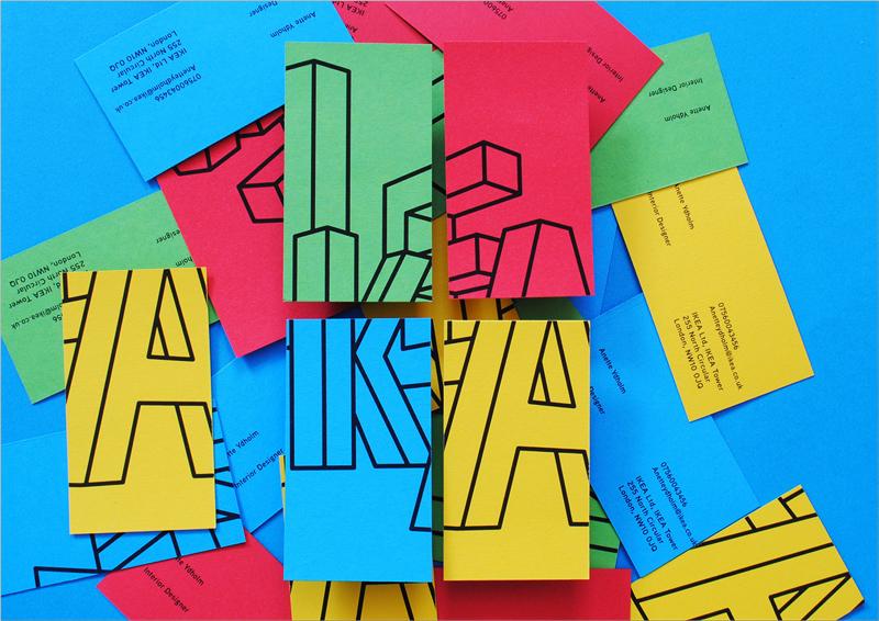 inspiración colorida del diseño de la tarjeta de visita