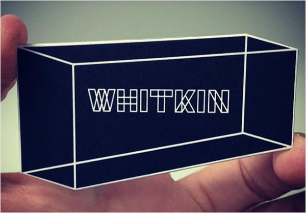 diseño de tarjeta de visita de ilusión visual