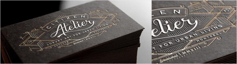 diseño de tarjeta de visita de tipografía vintage