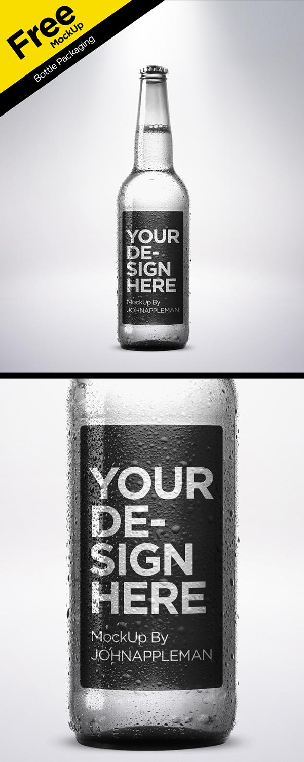 PSD MockUp Bottle Packaging gratuito