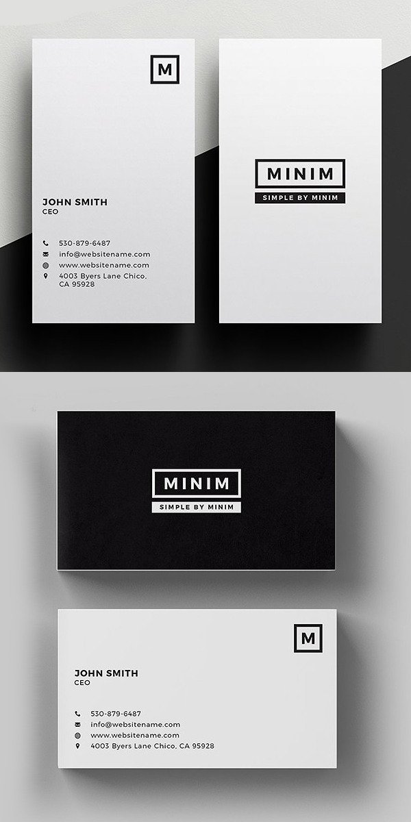Minim - Tarjeta de visita simple y limpia