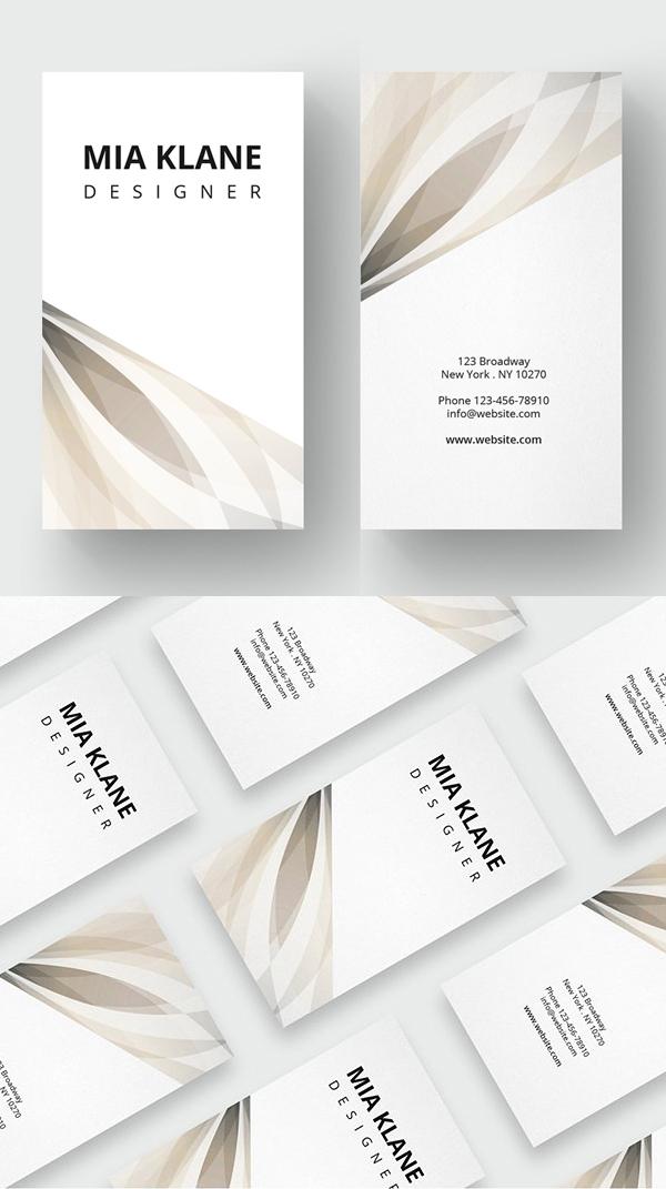 Plantilla de tarjeta de visita limpia de lujo