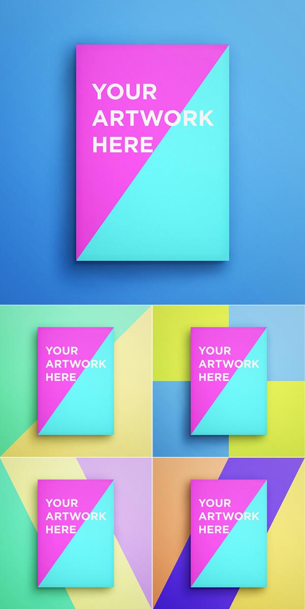 Maqueta PSD de póster gratis