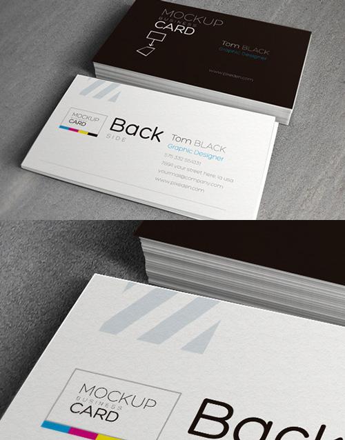 mockups en PSD gratis de maqueta de tarjeta de visita