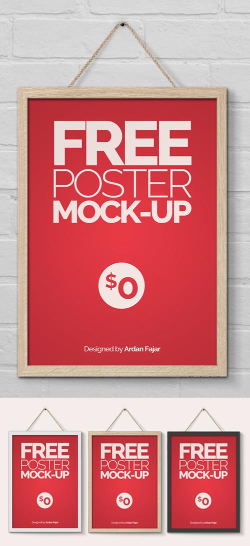 Maqueta de póster / folleto gratis