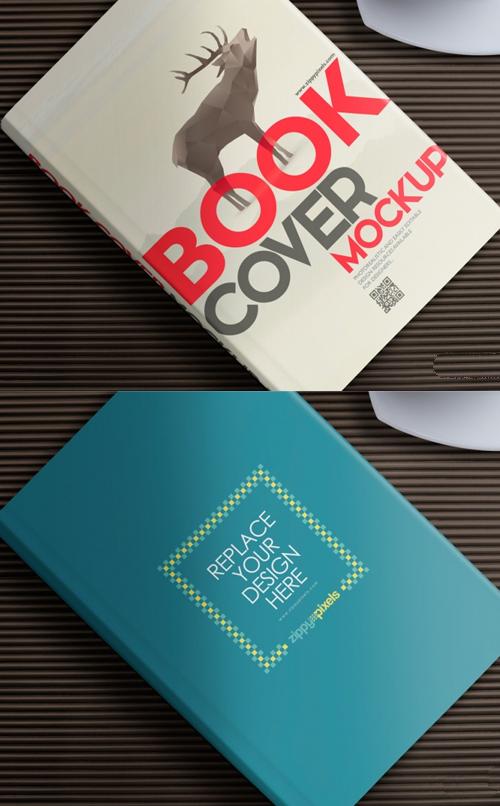 Maqueta de libro gratis para presentaciones de diseño de portada
