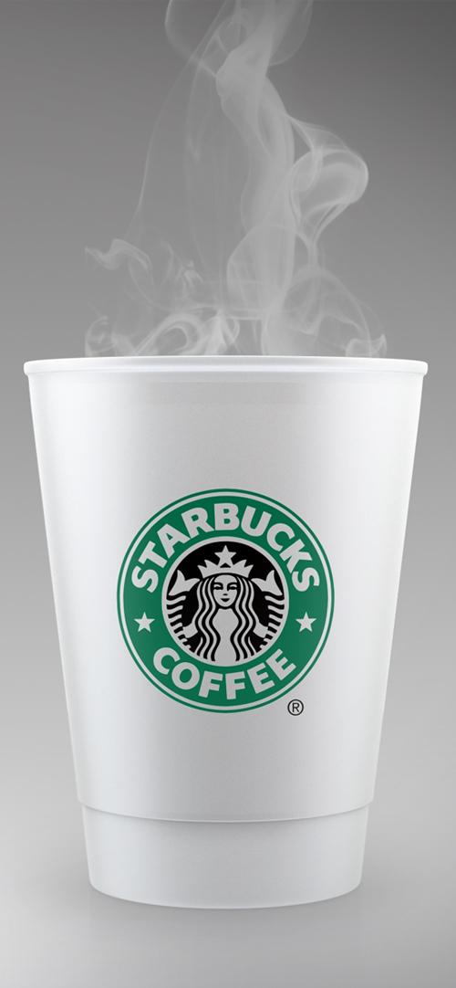 Plantilla PSD gratuita de maqueta de taza de café estilo STARBUCKS