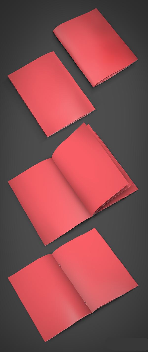 Mockups en PSD gratis de folletos A4