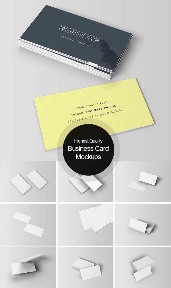 Maquetas de tarjetas de negocios gratis
