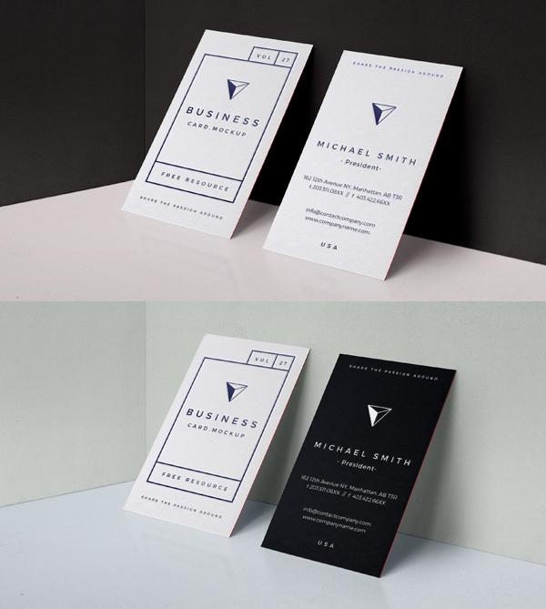 mockups en PSD gratis tarjeta de visita PSD Embose gratuita