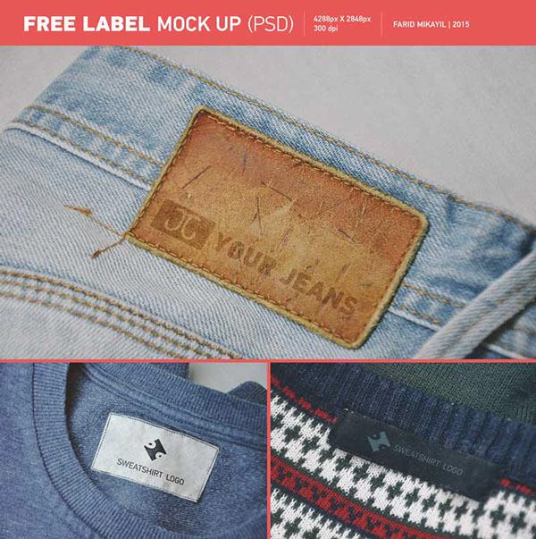 Plantilla PSD de Label MockUp gratuita