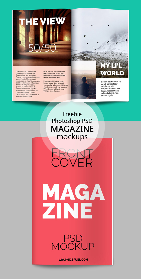 Maqueta PSD de revista gratis