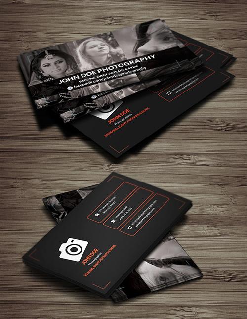 Plantilla de tarjeta de visita gratis - fotografía