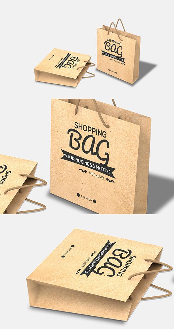 mockups en PSD gratis de bolsa de compras gratis