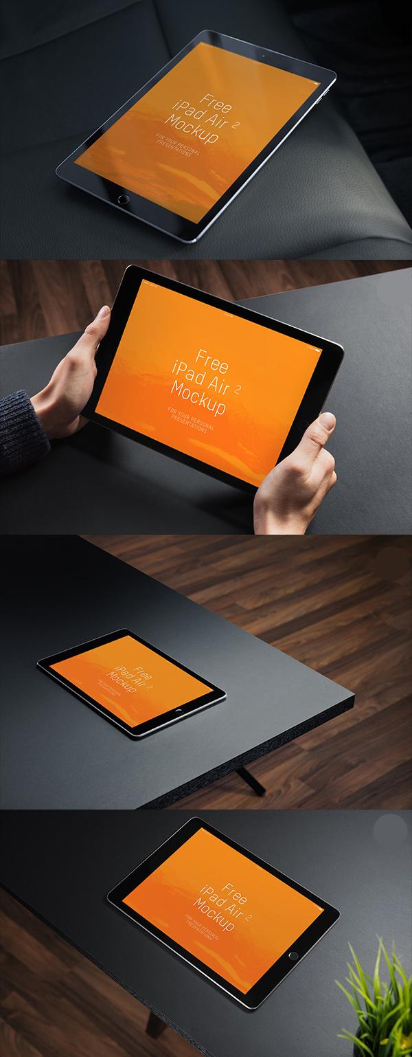 Maquetas gratuitas de iPad Air 2