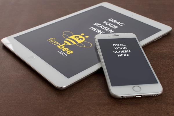 Maquetas de perspectiva gratuitas para iPad y iPhone 6