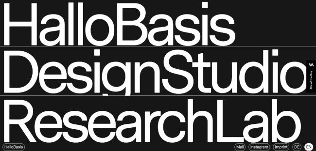 Diseño minimalista en sitios web: Tamaño de letras